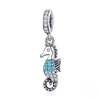 Sterling silver pendant charm Seahorse