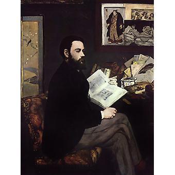 Portrait d ' Emile Zola, Edouard Manet, 50x40cm