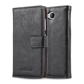 Cadorabo Hülle für Nokia Lumia 650 - Handyhülle im Luxury Design mit Kartenfach und Standfunktion  - Case Cover Schutzhülle Etui Tasche Book