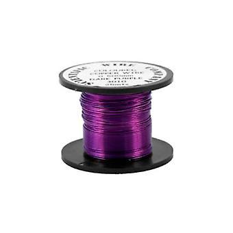 1 x Dark Purple Plated Copper 0.9mm x 5m Round Craft Wire Coil W3010