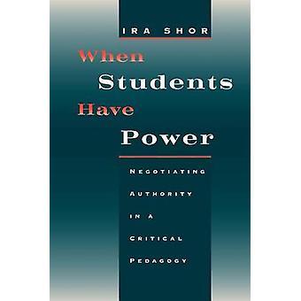 Wenn Studenten haben Power - Verhandlungen über Autorität in einem kritischen Pedagog
