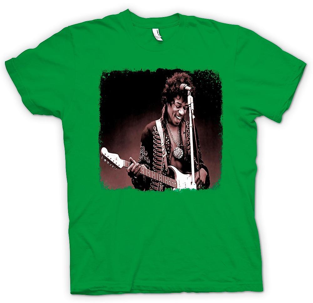 Camiseta para hombre - Jimi Hendrix - Sepia - retrato