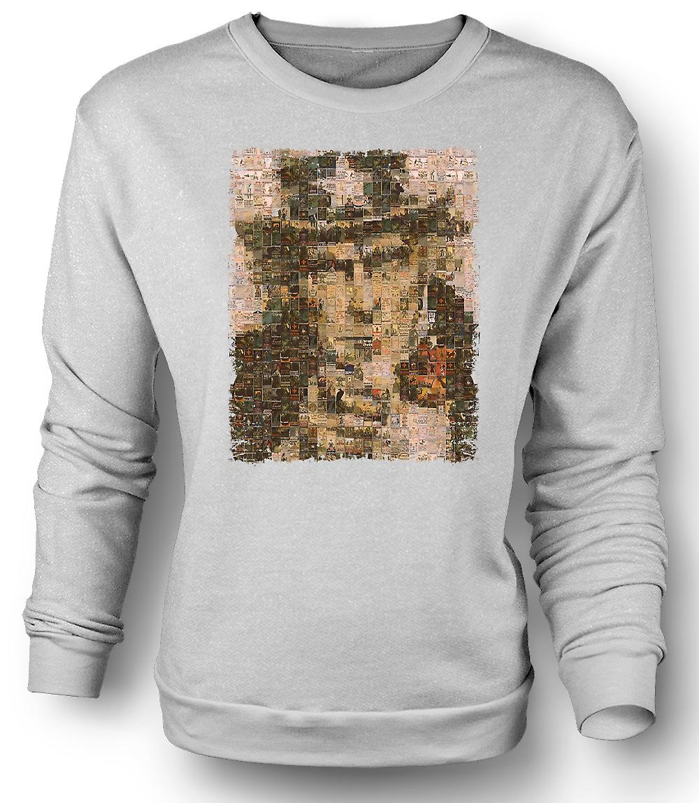 Mens Sweatshirt I Want You - War Poster Collage - US War