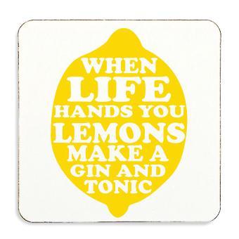 Når Life giver dig citroner gøre en Gin & Tonic Cork tilbage Coaster