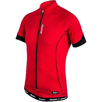 Santini Red Ora Short Sleeved Cycling Jersey