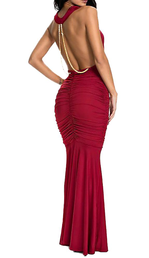 Waooh - Long-neck halter dress falling Émé