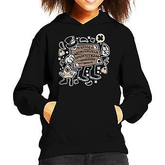 Oujia Board In A Top Hat Kid's Hooded Sweatshirt