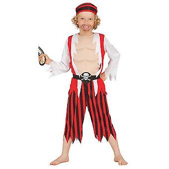 Disfraz pirata rojo chicos