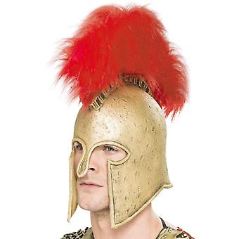 Mens Roman Armour Helmet  Fancy Dress Accessory