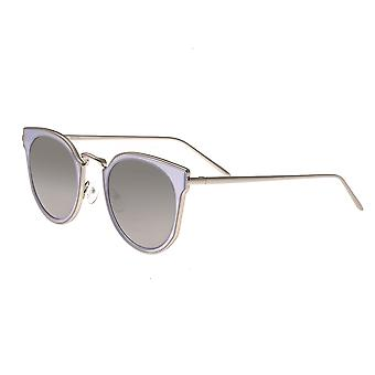 Bertha Harper Polarized Sunglasses - Silver/Silver