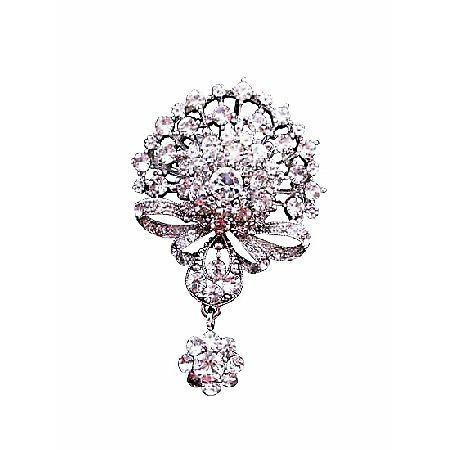Bling Bling with Cubic Zircon Sparkling Simulated Diamond Brooch