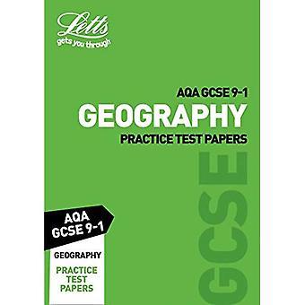 AQA GCSE 9-1 geografi praktiken Test papper (Letts GCSE 9-1 Revision framgång) (Letts GCSE 9-1 Revision framgång)