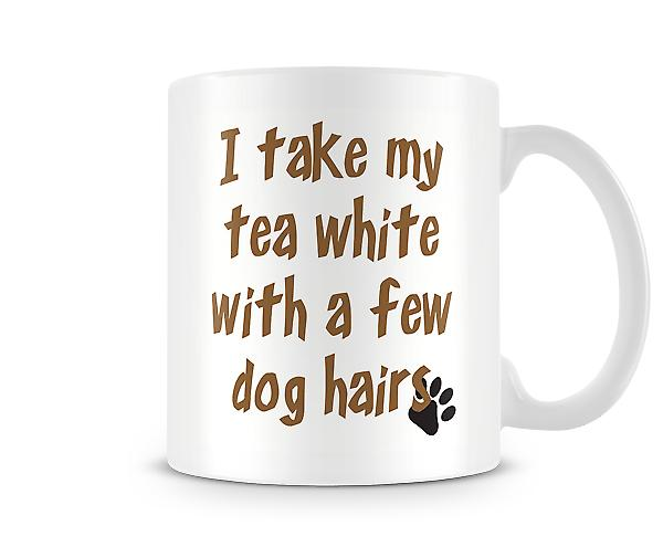 Take My Tea White Dog Hair Mug