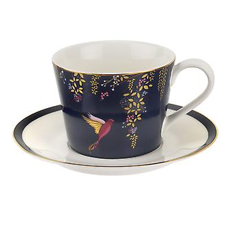 Sara Miller Chelsea Cup and Saucer, Navy