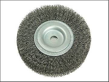 Lessmann Wheel Brush D80mm x W18-20 x 10 Bore Steel Wire 0.20