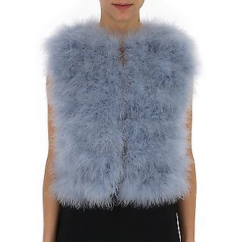 Red Valentino Light Blue Fur Vest