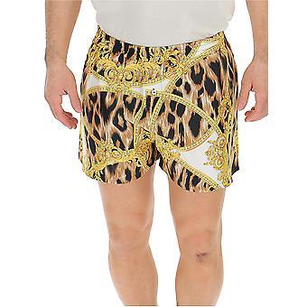 Versace Leopard Silk Boxer