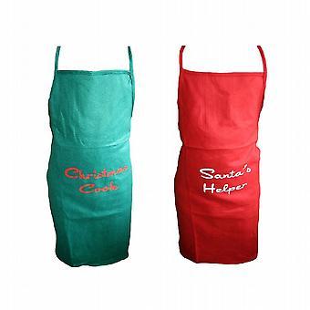 Kände mig jul förkläde jul Cook - 30 röda förkläden levereras - (SRONG)