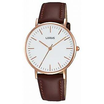 Lorus Womens Brown Leather Strap White Dial RH886BX9 Watch
