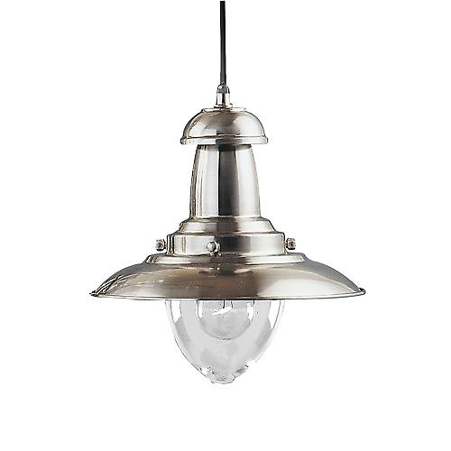 Searchlight 4301SS Fisherman Classic Style Ceiling Pendant With Clear Bell Glass -SS