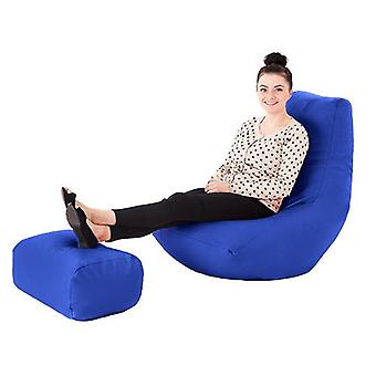 Royal Faux Leder Gaming Highback Bean Bag Lounger Stuhl mit Foothocker