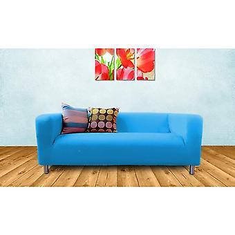 Ersatz-Baumwoll-Cover für Ikea Klippan 2 Sitze Sofa-Türkis