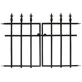 Wondermiddel klassieke Finial Gate zwart stijlvolle