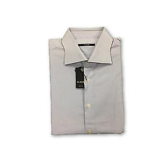 Pal Zileri shirt in white and blue check with shaped collar