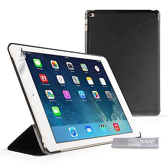 YouSave iPad Air 2 PU Leather Smart Cover with SleepWake and Stand Functions Black