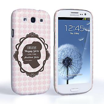 Caseflex Samsung Galaxy S3 Audrey Hepburn 'Happy Girls' Quote Case