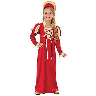 Medieval Princess Renaissance Guinevere Queen Red Gown Book Week Girls Costume