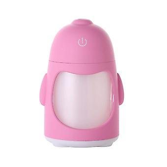 7 colors change mini air humidifier pink