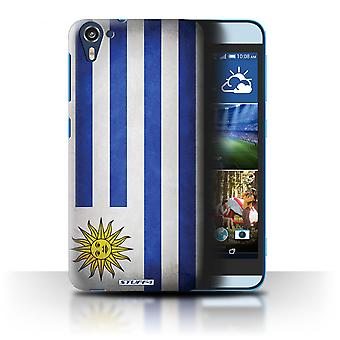 STUFF4 Case/Cover for HTC Desire 826/Uruguay/Uruguayan/Flags