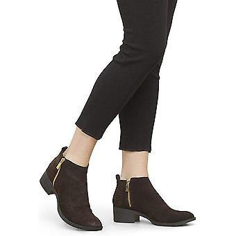 Kenneth Cole New York Women's Levon Dual Side Zip Ankle Bootie Boot, Chocolat...