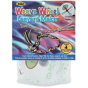 Weave Wheel Lanyard Maker 4 Pkg 86048
