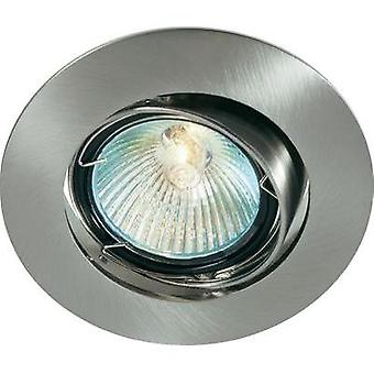 Recess-mount bracket HV halogen G5.3 35 W Basetech CT-3107 MR16, chrom geb. Iron (brushed)