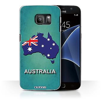 STUFF4 Case/Cover for Samsung Galaxy S7/G930/Australia/Australian/Flag Nations