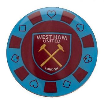 West Ham United Poker Chip insignia