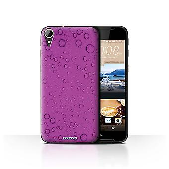 STUFF4 Case/Cover for HTC Desire 830/Purple/Water Droplets