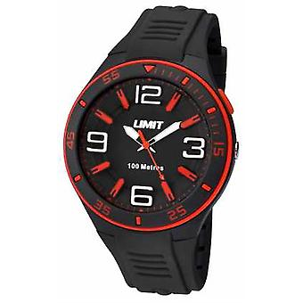 Limit Mens Black Strap Black Dial 5567 Watch