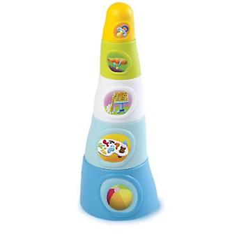 Smoby Happy Tower Assortment (Babies , Toys , Skill Development , Pileable)