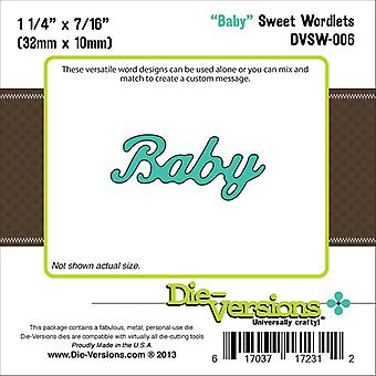 Die-Versions sucrée Wordlets Die-Baby, 1.25