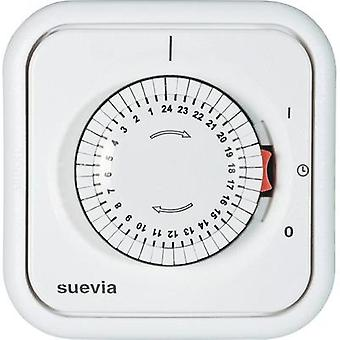 Flush mount timer/power strip analogue 24 h mode Suevia 348.002 2200 W IP20
