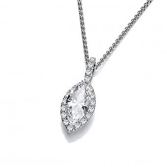 Cavendish French Marquise CZ Solitaire Pendant
