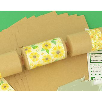 8 Kraft Muted Tones Sunflower Make & Fill Your Own Crackers Kit