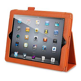 Qubits iPad 2/3/4 PU Leather Wallet Case-Orange