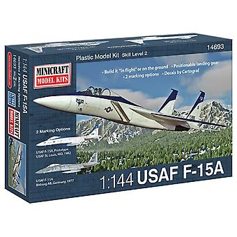 MiniCraft Model Kit - USAF F-15A Plane - 1:144 Scale - 14693 - New