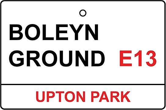 West Ham Utd / Boleyn Ground Street Sign Car Air Freshener