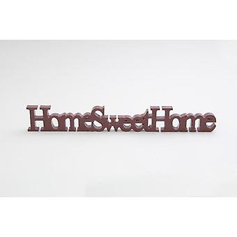 Home Sweet Home Sign Red Wooden Ornament Decoration Sign