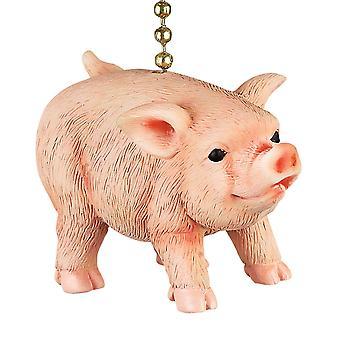 Farmers Pig Decorative Ceiling Fan Light Dimensional Pull